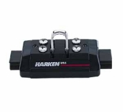 Harken 1508 mid-range traveller car with pivoting shackle for attaching the mainsheet